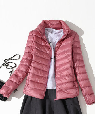 Casual Women Zip Down Jacket