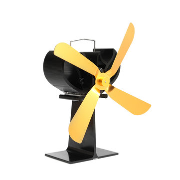 4 Blades Fuel Saving Heat Powered Stove Fan For Wood Burner Fireplace Eco Friendly
