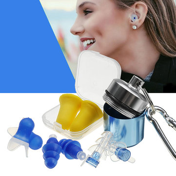 4 Pairs Silicone Earplugs Waterproof Anti-Noise Ear Plug Camping Noise Cancelling Swimming EarPlugs