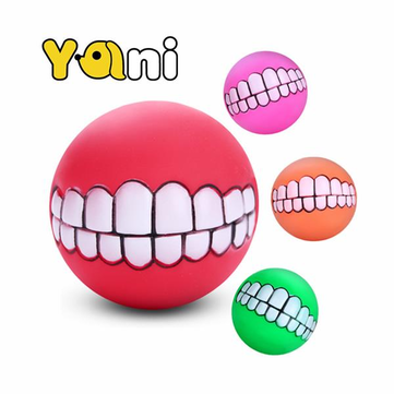 Yani Squeaky Pet Toy Sound Chew Ball Soft Fun Bite Ball Toy Teeth Tranining Dog Toy
