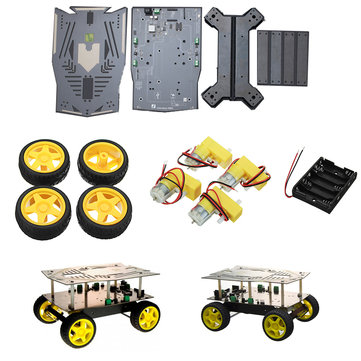 DFROBOT Cherokey 4WD Arduino Mobile Platform Smart Robot Car Kit For Arduino with User Manual