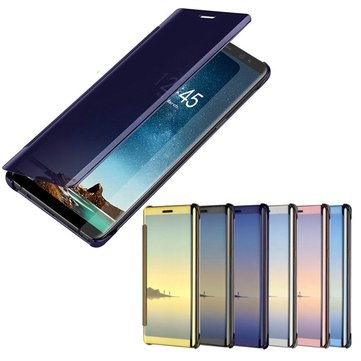 Bakeey Plating Acrylic Mirror Smart Sleep Flip Case For Samsung Galaxy Note 8