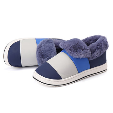 Faux Fur Lining Round Toe Casual Keep Warm Indoor Home Shoes