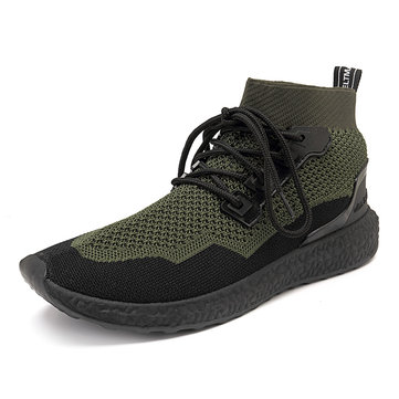 Hommes Engrener respirant haut haut Sneakers Casual Sports Shoes