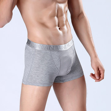 VindKan Mens Magnet Therapy Breathable U Convex Pouch Health Care Modal Boxers Casual Underwear