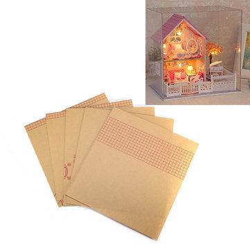 La cubierta a prueba de polvo transparente caja de presentación bricolaje cuteroom cereza casa de muñecas rosa