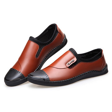 Men Casual Comfortable Genuine Leather Flats Loafers