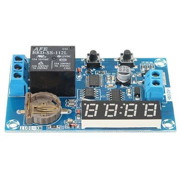 DC 12V Multifunctional Timer Relay Module With Real Time Control And Power Off Memory Function