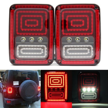 Pair Rear Brake Turn Signal Tail Light LED For Jeep Wrangler Assembly Europe Version Model