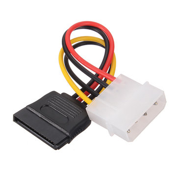 1x SATA 15 Pin Female to Molex IDE 4 Pin Male Power Cable