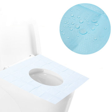 Mrosaa 10PCS Disposable Toilet Seat Covers Mats Portable Waterproof Safety Toilet Seat Pads Travel/Camping Bathroom Accessories