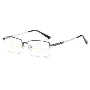 Män Kvinnor Semi Rimless Dual-Purpose Nearsighted Farsighted Reading Glasses