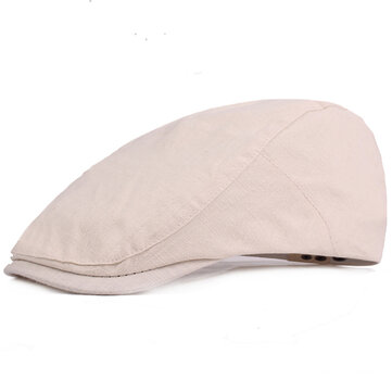 Men Women Plain Breathable Adjustable Gatsby Beret Hat