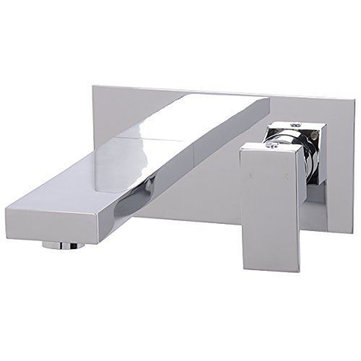 Bathroom Bath Tub Modern Chrome Brass Wall Mounted Mixer Faucet Tap