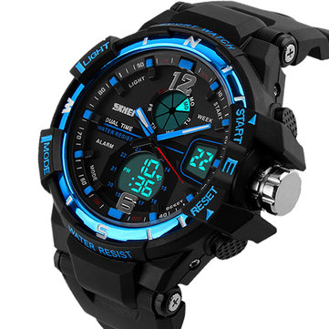 SKMEI 1148 Dual Display Digital Watch Men Luminous Chronograph Alarm Sport Watch Outdoor Watch