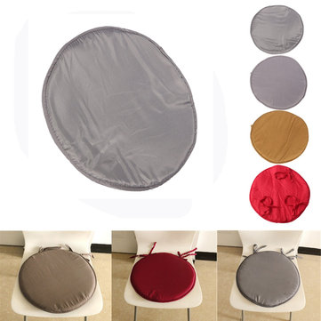 35x35x2cm Round Circular Office Bistro Kitchen Dining Patio Tie On Chair Seat Pad Mat Cushion