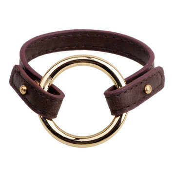 Simple Gold Circle Leather Rope Buckle Bracelets