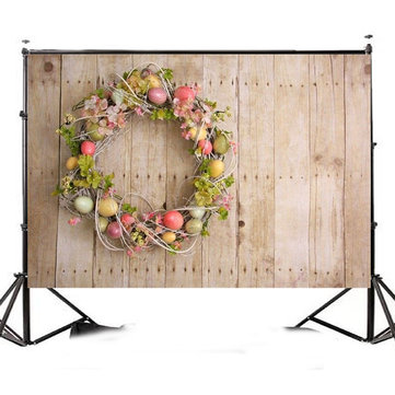 7x5FT Easter Egg Wood Board Photography Backdrop Studio Prop Background