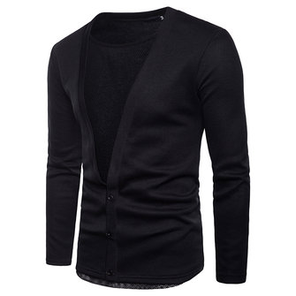 Casual Mesh Stitching Single Breasted Cardigans