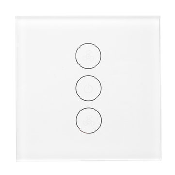 Smart WiFi Fan Switch Work with Amazon Echo and Google Home Touch Wall Socket Switch Panel