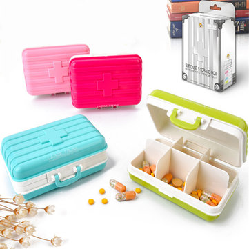 Honana HN-B18 Travel Pill Box Tablet Organizer Vitamin Medicine Case Create Jewel Storage Boxs