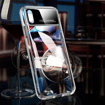 Bakeey Tempered Glass Lens Transparent Hard PC Protective Case for iPhone X