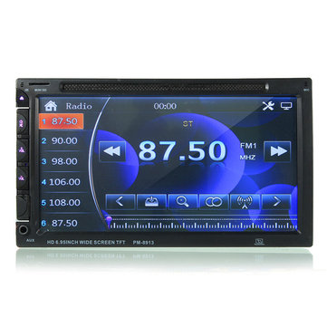 7 Inch Double Din Car DVD/USB/SD Player Bluetooth Radio AUX HD Camera Touch Screen