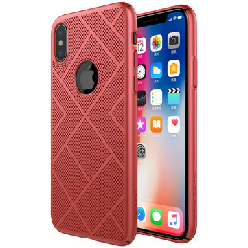 NILLKIN Air Mesh Dissipating Heat Matte Hard PC Case for iPhone X