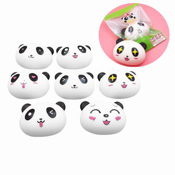 SquishyFun Super Slow Rising Soft Cute Panda Face 10*8cm Squishy Toy With Original Packaging