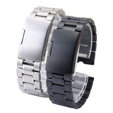 22mm Width Stainless Steel Watchband+Replace Tool For MOTO 360 Smart Watch