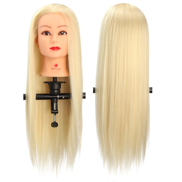 29'' Hair Salon Hairdressing Training Practice Model Mannequin Doll Head With Clamp