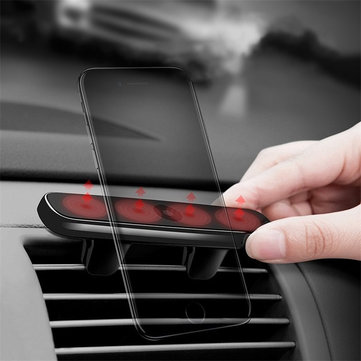 Baseus Magnetic Double Clip Vehicle Holder Stable Car Air Vent Mount Outlet Phone Bracket