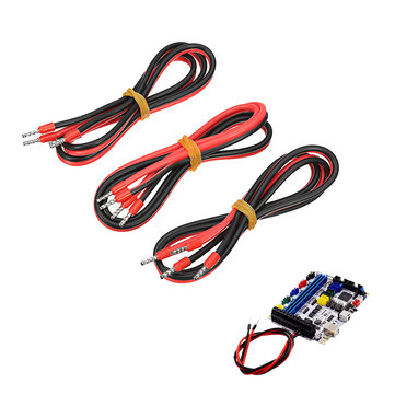 3Pcs 60cm 15A Heated Bed Line MOS Module Power Connection Cable for 3D Printer