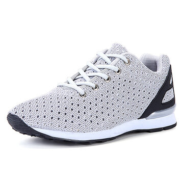 Men Breathable Hollow Out Casual Mesh Athletic Shoes