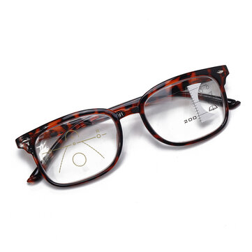 TR90 Retro Progressive Multi-Focus Reading Glasses Anti-Blue Light Dual-Use Multi-Function Glasses