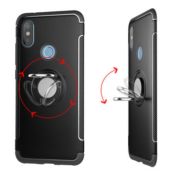 Bakeey Anti-slip Shock-proof 360° Adjustable Ring Holder Protective Case for Xiaomi Mi Max 3