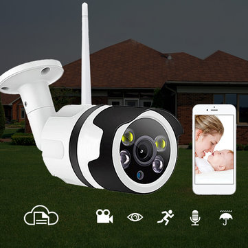 Security IP Camera 1080P Wireless IP Surveillance Camera 200W 98ft Night Vision Bullet Baby Monitor Two-Way Audio Waterproof Moving Detect