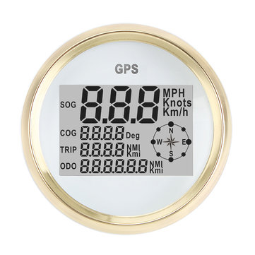 300KM/H 85mm GPS Speedometer Waterproof Digital Gauge For Auto Car Motorcycle Truck Marine 9~32V