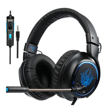 Sades R5 Gamer PC Gaming Stereo Headset with Microphone Volume Control
