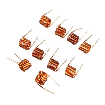10pcs Coilcraft Inductor 3.5*1.5t*0.7 Copper Wire Hollow Inductance Coil Remote Control FM Inductor