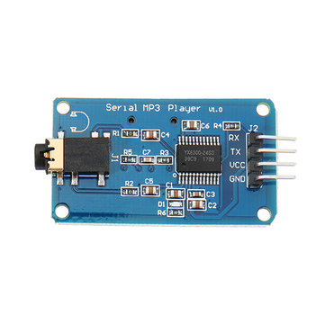 3pcs Wemos® YX6300 UART TTL Serial Control MP3 Music Player Module Support Micro SD/SDHC Card For Arduino/AVR/ARM/PIC 3.2-5.2V