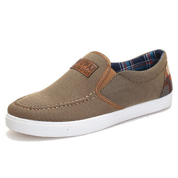 Men Autumn Sneakers Sport Canvas Shoes Slip-on Flats Sneakers