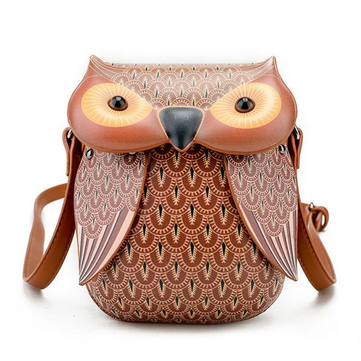 Cartoon Owl Shape Shoulder Bag Creative Crossbody Bag