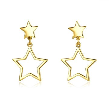 INALIS Sweet Star Gold Plated Earring Copper Ear Drop for Women