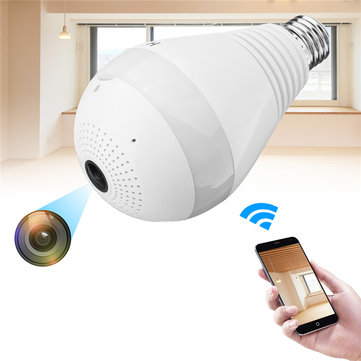 960P HD WIFI Camera Panoramic 360° View Smart Light Bulb Camera Monitoring