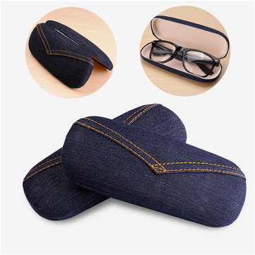 Denim Tin Storage Eyeglasses Cases Hard Glasses Box Glasses Case For Frame Reading Glasses