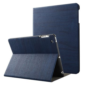 Wood Grain Pattern Smart Sleep Kickstand Case For iPad 2/3/4