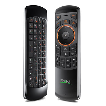 RKM MK705 2.4GHz 3 in 1 Wireless Fly Air Mouse QWERTY Keyboard IR Remote Combo for HTPC Smart TV PC