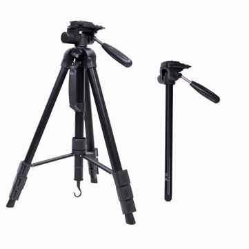 CamboFoto SAB264 Professional Portable Aluminum Alloy Travel Tripod Monopod for DSLR Camera