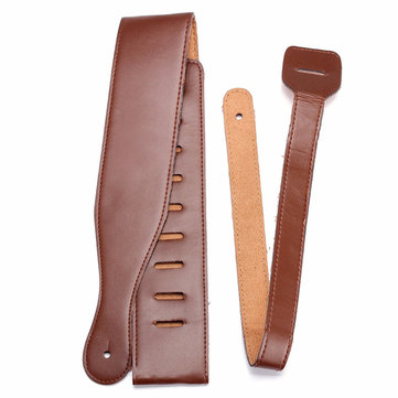 Zebra 115cm Brown Adjustable Soft PU Leather Ukulele Belts Guitar Strap for Electric Acoustic Guitar